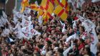 """The Ulster supporters brought great passion to the occasion and it was matched by the home team."" Photograph: Darren Kidd/Presseye"