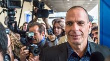 Greece's finance minister Yanis Varoufakis arrives for a meeting with EU Commissioner for Economic and Financial Affairs, Taxation and Customs Pierre Moscovici at the European Commission headquarters in Brussels yesterday. Photograph: Geert Vanden Wijngaert)