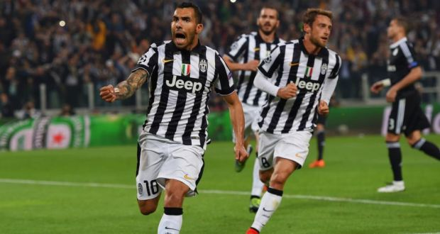 b8d1fd43b6b Carlos Tevez won and scored a second half penalty to give Juventus a 2-1
