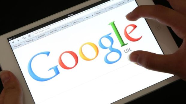 Photo of an iPad showing the Google search engine home page. Photograph: Chris Radburn/PA Wire
