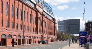 Ibrox Stadium in Glasgow, home of Rangers. Many in traditional Rangers heartlands voted Yes in the independence referendum, while many Celtic fans have traditionally been at odds with aspects of Scottish nationalism. Photograph: Jeff Holmes/PA Wire.