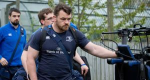 Cian Healy is likely to miss the rest of Leinster's season as he battles with a neck injury. Photograph: Inpho