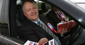 David Simpson (DUP) criticised what he described as a  ' despicable' attack on my family during the election campaign.