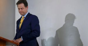Nick Clegg resigned on Friday as leader of the Liberal Democrats after his party was crushed at the national election. Photograph: Eddie Keogh/Reuters
