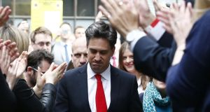 Labour leader Ed Miliband resign as leader of the Labour party after a dismal performance in the general election. Photograph: Justin Tallis/AFP/Getty