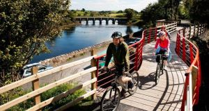 Cycle path: on the  Great Western Greenway
