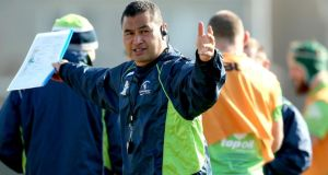 Connacht coach Pat Lam has made one change to the side that lost at home to Glasgow. Photograph: James Crombie/Inpho