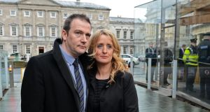 "Róisín and Mark Molloy: ""We thought we were telling people, at hospital level, local and national level, things they didn't know, and it turns out they did and they stood by and allowed further unnecessary deaths."" Photograph: Eric Luke."