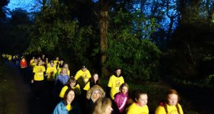 The 5km Darkness into Light walk/run, which kicked off at 4.15am on Saturday, was held at 80 locations in Ireland and around the world, and is believed to have attracted an estimated 100,000 participants. Photograph: Dara Mac Dónaill/The Irish Times