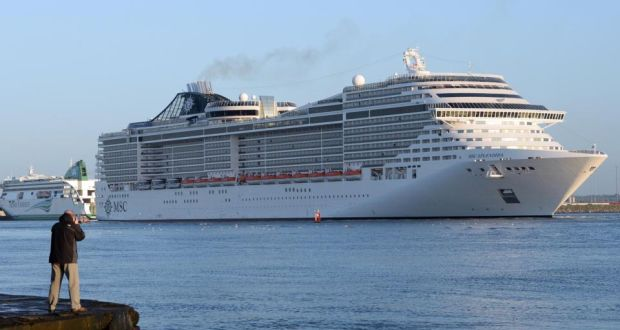 The Splendida Cruise Ship Is Largest Ever To Visit Dublin Port Photograph