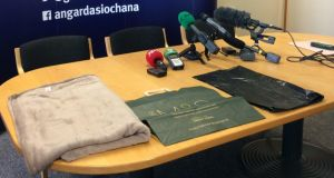 Items similar to those found with an abandoned infant discovered  on Friday near the Kildare-Dublin border, close to Rathcoole and the busy N7.