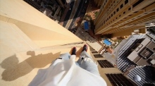 Don't look down: parkour on the 43rd floor