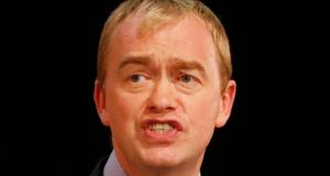 Former Liberal Democrats president Tim Farron. The  party's leaders in  Scotland and Wales have called for Mr Farron to 'step up' to succeed Nick Clegg. File photograph: Danny Lawson/PA Wire
