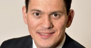 "Speaking in New York, former British foreign secretary David Miliband said last week's election result was ""devastating"" for the British Labour Party and its supporters. File photograph: John Stillwell/PA Wire"