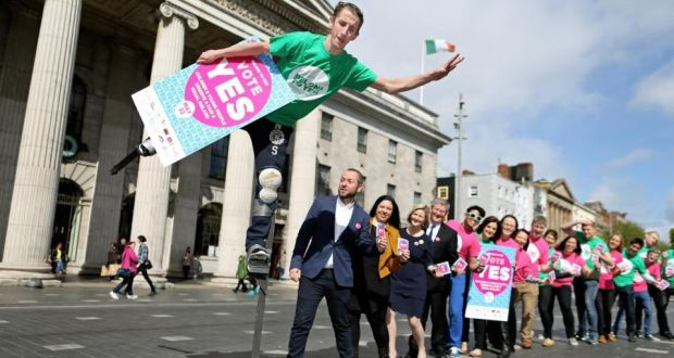 BeLong To Yes, the largest national coalition of youth and children's organisations calling for a Yes vote in the Marriage Equality Referendum on May 22nd, gathered outside the GPO in Dublin on Tuesday to launch their Yes campaign posters. Photograph: Julien Behal/Maxwell Photography