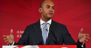 UK shadow business secretary Chuka Umunna. Mr Umunna has confirmed that he will join the race to be Labour's next leader. File photograph: Ben Stansall/AFP/Getty Images