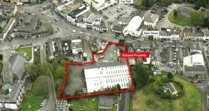 Bannon estate agents is seeking in excess of €3 million for a 1.31-acre town centre site with planning for a large retail building in Naas