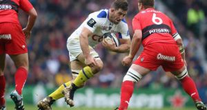 Jamie Cudmore in his eye-catching footwear in the Champions Cup final against Toulon. Photograph: Billy Stickland/Inpho