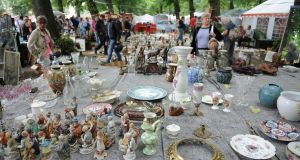 The annual Braderie de Lille  in France is one of the largest flea markets in Europe. Photograph: Antoine Antoniol/Getty Images