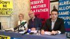 Eileen King, Keith Mills and Dr Tom Finegan of Mothers and Fathers Matter at their press conference in Dublin on Wednesday. Photograph: Brenda Fitzsimons/The Irish Times
