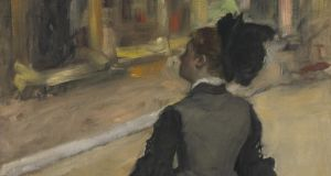 Detail from 'A Visit to The Museum'. National Gallery of Art, Washington