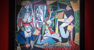 'Les femmes d'Alger (Version O)' painted by Pablo Picasso  sold for a record-breaking $179,365,000. Photograph: Andrew Burton/Getty Images
