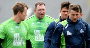MIchael Swift is on the bench for his final home game before Connacht retirement. Photograph: Inpho