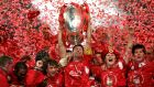 Steven Gerrard's greatest moment for Liverpool, when he spearheaded the so-called Miracle of Istanbul to claim the club's fifth European Cup. Photograph: Phil Noble/PA Wire.