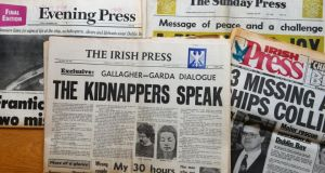 The Press titles. Photograph: Cyril Byrne/The Irish Times