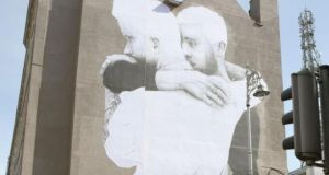 New irish christians gather to vote no in referendum for Dublin gay mural