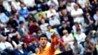 Novak Djokovic serves the ball during the Italian Open. Photo: Claudio Onorati/EPA