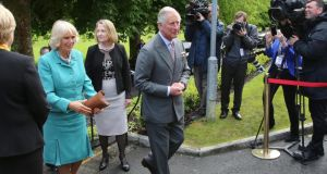 The royal couple are to meet politicians at the University as part of their visit. Photograph: EPA/Paul McErlane