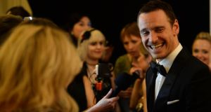 Michael Fassbender attends  2014's  much-criticised Irish Film and Television Awards (Ifta) ceremony in Dublin. Photograph: Dara Mac Dónaill/The Irish Times