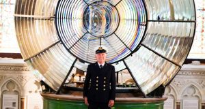 Lighthouse Keeper Gerald Butler from Galley Head lighthouse at the Maritime Museum of Ireland in Dún Laoghaire. Photograph: Leon Farrell/Photocall Ireland.