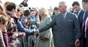 Prince Charles and  the Duchess of Cornwall at Mullaghmore, Co Sligo. Photograph: Eric Luke/The Irish Times