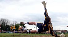 Different gateways to college: sports scholarships (pictured is a Sigerson Cup match between DCU and DIT in 2012). Photograph: Donall Farmer/Inpho
