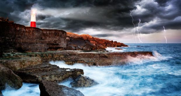 Portland Bill Lighthouse Harbour Stormy Sea Getty Images