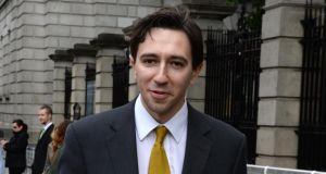 Fine Gael TD and Minister for State Simon Harris  is advocating a Yes vote on the age of eligibility for presidential office. Photograph: Dara Mac Dónaill