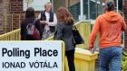 Members of the public arrive to vote at a polling station in Drumcondra, north Dublin on May 22nd, 2015. Photograph: Paul Faith/AFP/Getty Images