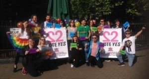 A group of about 30 young Irish people living in London departed on the train from Euston station at 9am this morning to make the journey back to Dublin to vote in the same-sex marriage referendum.