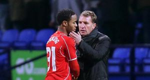 Liverpool boss Brendan Rodgers expects Raheem Sterling to see out the remaining two years on his contract. Photograph: PA