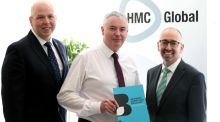 Stephen McCully, vice-president of NI Chamber; John Haran, managing director of HMC Global and Kevin Kingston, president of NI Chamber at the launch of 'Growing Something Brilliant: An Action Plan to Grow the Northern Ireland Economy' in Belfast.