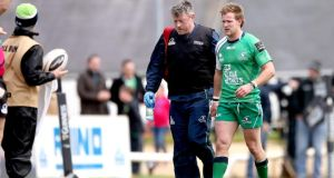 Connacht will travel to play Gloucester in their Champions Cup play-off without the injured Kieran Marmion. Photograph: Inpho