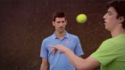 What a racket: tennis stars attempt trick shots