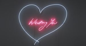 Detail from Wanting You by Tracey Emin