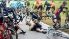 No Grand Tour has ever been won without some tale of hardship –  Dutch rider Rick Flens of Team LottoNL-Jumbo after crashing during the 13th stage of the 98th Giro d'Italia yesterday. Photograph:  Claudio Peri/EPA