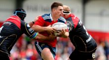 Ian Keatley winning his 100th Munster cap against the Dragons last week . Photograph: Billy Stickland/Inpho