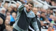 John Carver says he is willing to press almost any button in the hope of provoking a response from his squad. Photograph: Lindsey Parnaby/AFP
