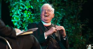 "Cardinal Cormac Murphy-O'Connor speaking at the Hay Festival in Hay-on-Wye, south Wales. ""I don't think we were aware of the addictive nature of paedophilia and the terrible damage that's done to the victims,"" he said. Photograph: Elinor Williams/Hay Festival/PA Wire"