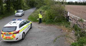 A file image showing gardai on Steelstown Lane. Photograph: Collins